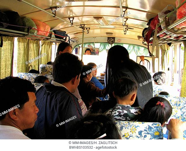 bus driving in Laos, Laos