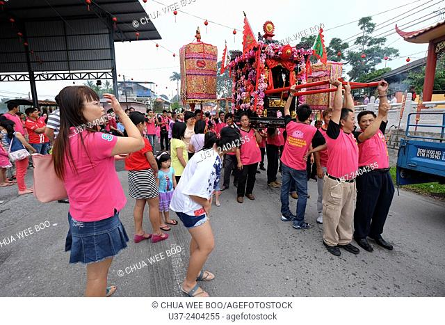 Chinese New Year Festival Capgomeh year 2015 15th day of the 1st month at Siniawan, Sarawak, Malaysia