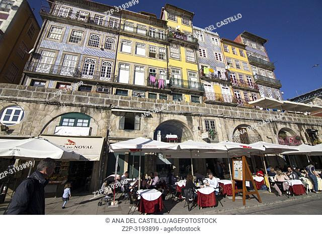 Ribera district is World Heritage site in Porto, Portugal
