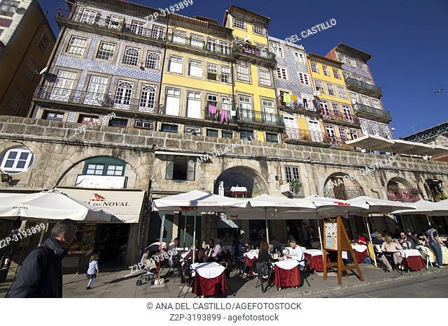 Ribera district is World Heritage site in Porto, Portugal