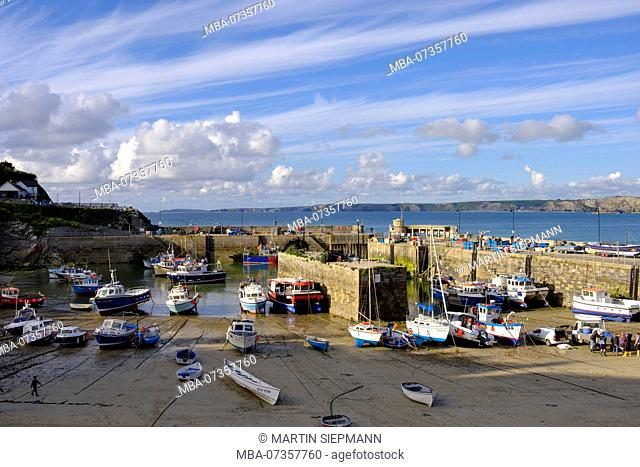 Harbor, Newquay, Cornwall, England, UK