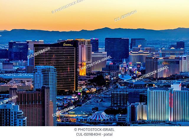The Strip at night, Las Vegas, Nevada, USA