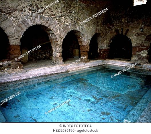 Interior of the Roman Baths of Caldes de Montbui