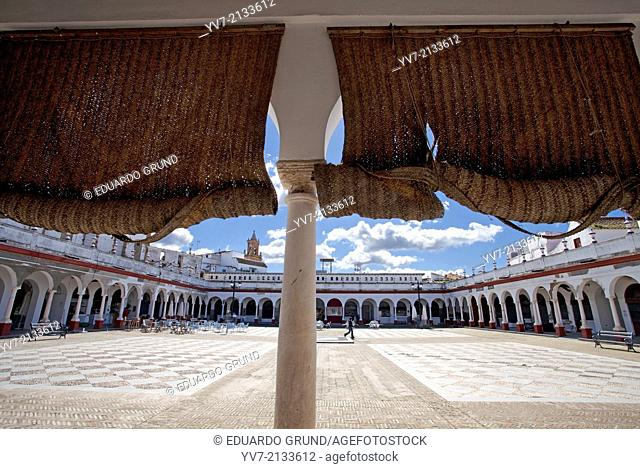 Square Supplies Market. Carmona, Seville, Andalusia, Spain, Europe