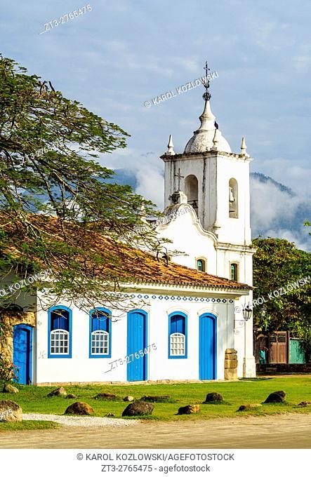 Brazil, State of Rio de Janeiro, Paraty, View of the Nossa Senhora das Dores Church