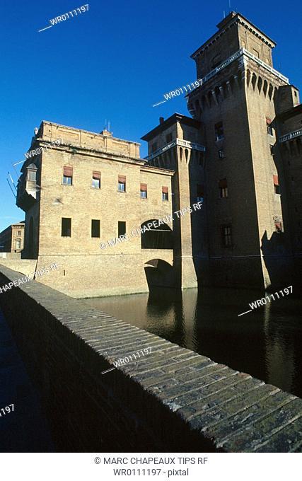 Italy, Emilia Romagna, Ferrara, the Estense castle