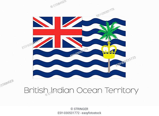An Illustration of the flag, with name, of the country of British Indian Ocean Territory