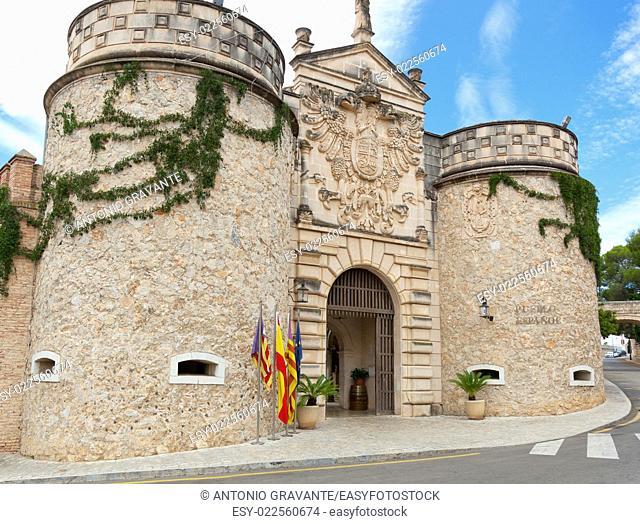 Main entrance to the Poble Espanyol Palma de Mallorca, Spain