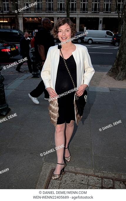 Oasis and Victoria & Albert Museum - collection launch party, arrivals. Featuring: Camilla Rutherford Where: London, United Kingdom When: 20 Apr 2015 Credit:...