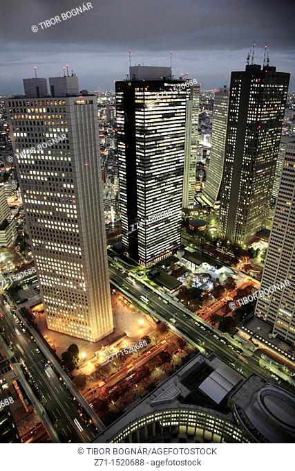 Shinjuku skyline at night, Tokyo, Japan