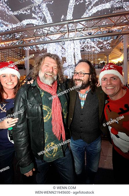 The Hairy Bikers turn on the Intu Metrocentre Christmas Lights in Newcastle Featuring: The Hairy Bikers,Si King,Dave Myers Where: Newcastle