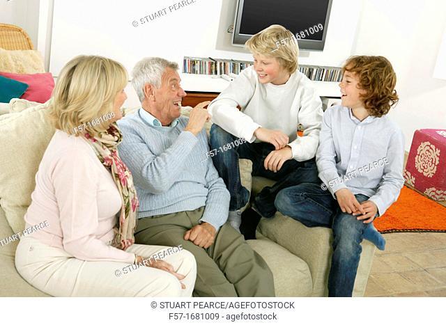 Grandparents and grandsons