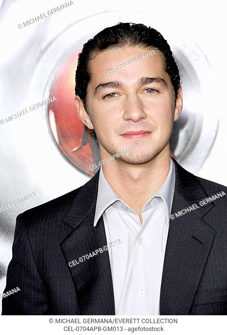 Shia LaBeouf at arrivals for DISTURBIA Premiere, Grauman's Chinese Theatre, Los Angeles, CA, April 04, 2007. Photo by: Michael Germana/Everett Collection