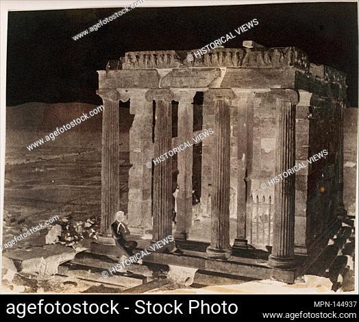 Temple of Wingless Victory, Lately Restored. Artist: George Wilson Bridges (British, 1788-1864); Date: 1848; Medium: Paper negative; Dimensions: Image: 16