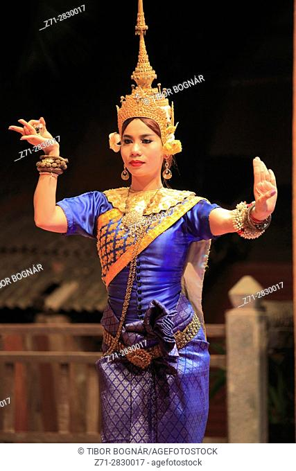Cambodia, Siem Reap, Apsara dance, classical dancer,