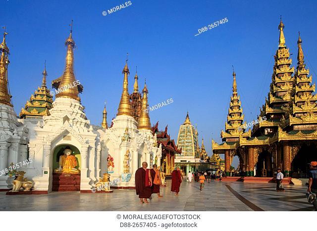 Myanmar, Yangon State, Yangon, Shwedagon Pagoda