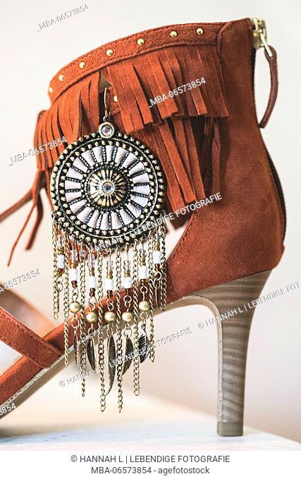 Indian women's shoe, close up