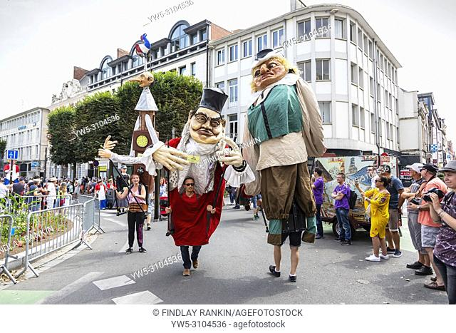 Parade of the Giants, Les Fetes de Gayant, an annual festival celebrating the Giant as the symbol of Douai when large manikins representing the Gayant family