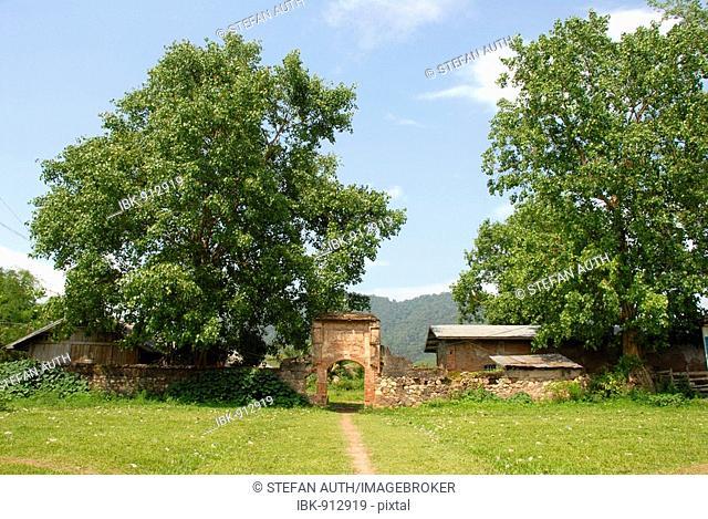 Overgrown old french fort Kai Falang, Boun Tai, Phongsali Province, Laos, Southeast Asia
