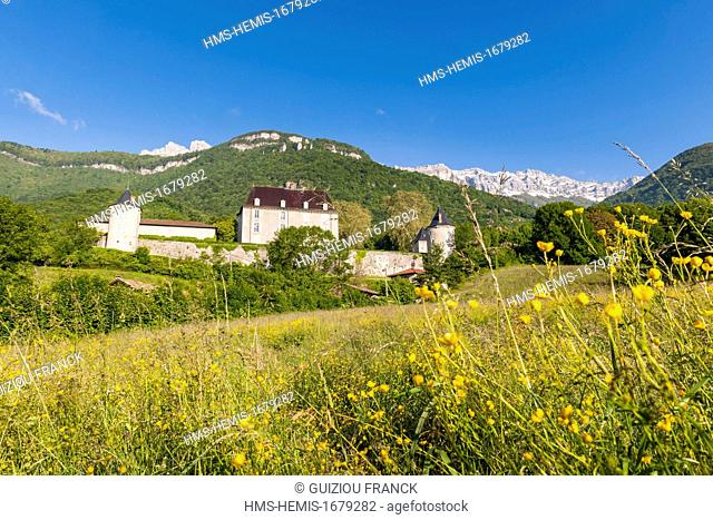 France, Isere (38), the Gresivaudan valley, the castle of Touvet