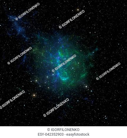 Colorfull stars nebula in outer space