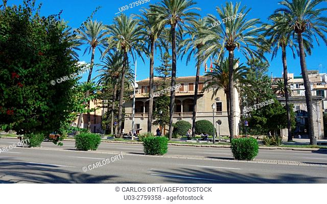 Consolat del Mar, actual headquarters of the Balearic Government, Palma de Majorca, Spain, Europe. An old institution founded in 1326