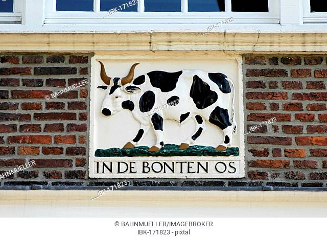 Monnickendam North Holland Netherlands at the Ijsselmeer Waterland sign of the house