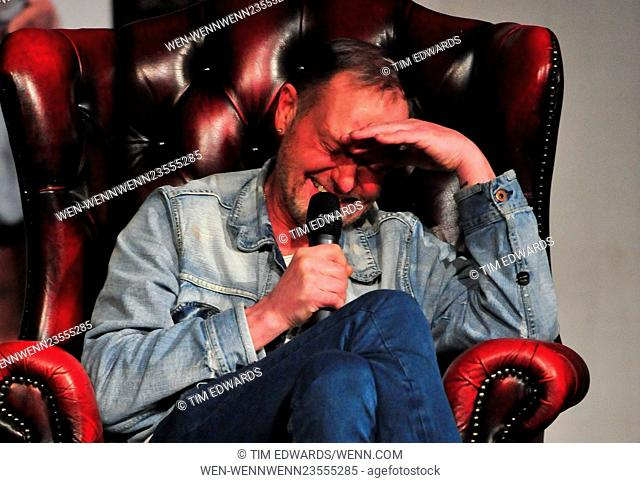 England legend Paul Gascoigne at the Epstein Theatre, Liverpool. Featuring: Paul Gascoigne, Gazza Where: Liverpool, United Kingdom When: 26 Feb 2016 Credit: Tim...
