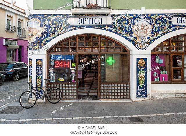 Tiled Pharmacy in Zafra, Badajoz, Extremadura, Spain, Europe