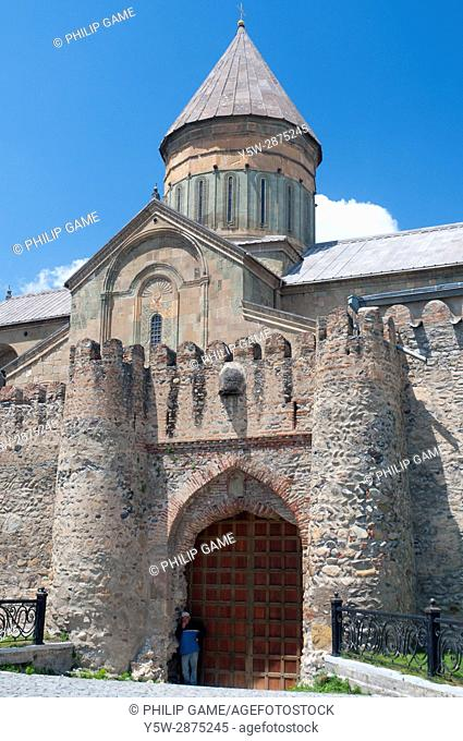 The 11th-century Svetitskhoveli Cathedral, mother church of the Eastern Orthodox church in Mtskheta, Republic of Georgia