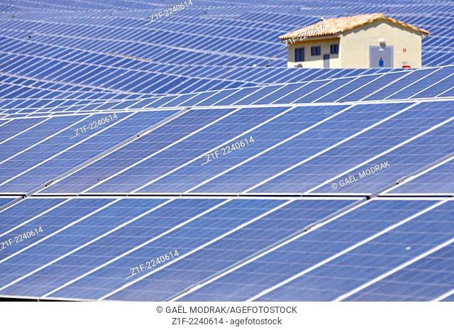 Solar field in Corsica, France