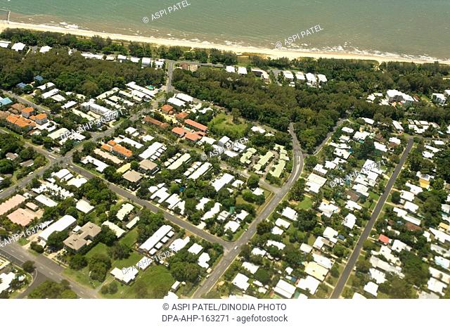 Aerial view of Cairns city ; Queensland ; Australia