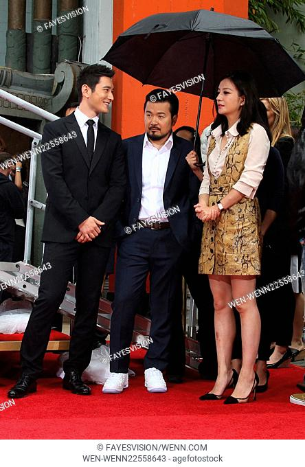 Hand Print/Birthday Bash Ceremony at the TCL Chinese Theatre IMAX Featuring: Huang Xiaoming, Justin Lin, Zhao Wei Where: Hollywood, California