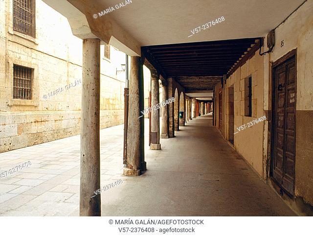 Mayor street. El Burgo de Osma, Soria province, Castilla Leon, Spain