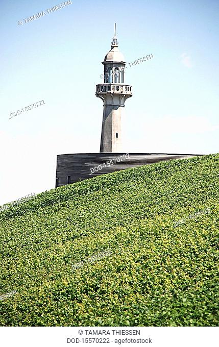 France, Champagne, Verzenay, Musee de la Vigne and lighthouse