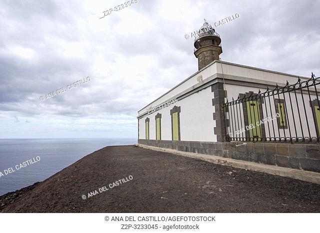 . . Faro de Orchilla, lighthouse at El Hierro island Canary islands Spain