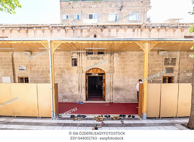 Exterior view of old Narinci Mosque built in 1967 in Sanliurfa,Turkey. 19 July 2018
