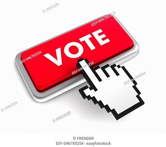 vote 3d illustration isolated on white background