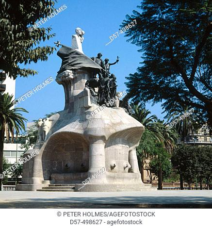 Monument to Bartomeu Robert. Plaça de Tetuan in Barcelona. Spain