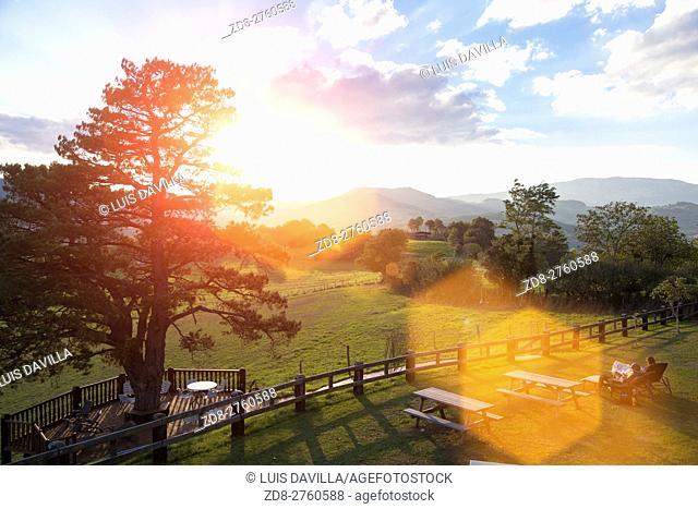 Sunrise in Aizkorri-Aratz Natural Parc. Gipuzkoa. Spain