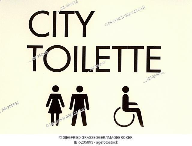 Sign public toilet