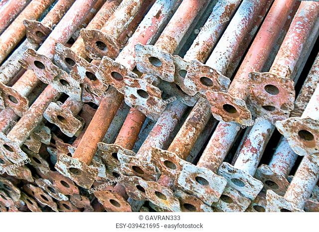 Rusty metal pipe background