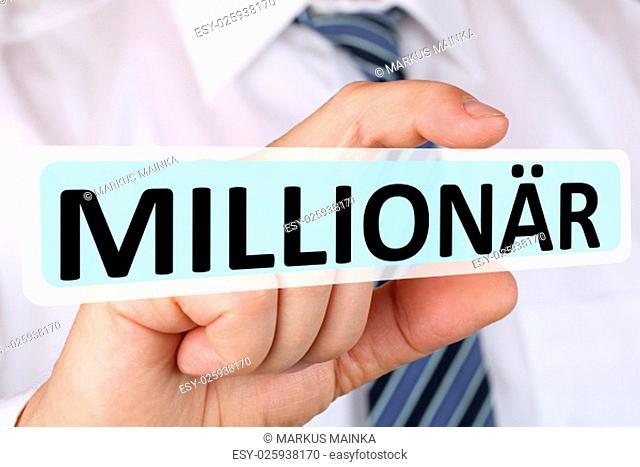 business man concept with millionaire rich riches success successful finance