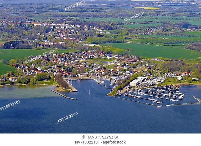 Putbus and Lauterbach with harbor, Rügen Island, Mecklenburg Western Pomerania, Germany