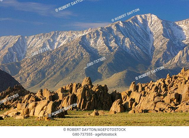 The Alabama Hills are located in the Eastern Sierra Range of California, USA