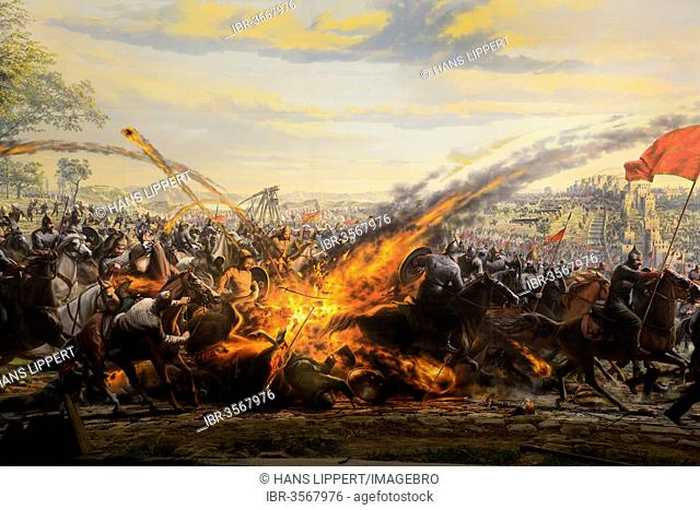 Painting Of The Conquest Of Constantinople In 1453 By The Ottomans