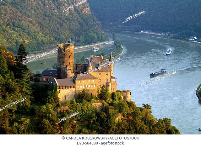 Katz Castle, St. Goarshausen, Rhine River, Hessen, Germany
