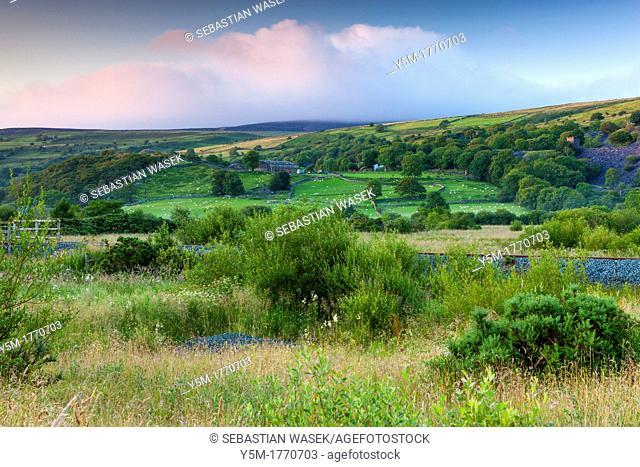 Rolling landscape near Bettws Garmon, Snowdonia National Park, Wales