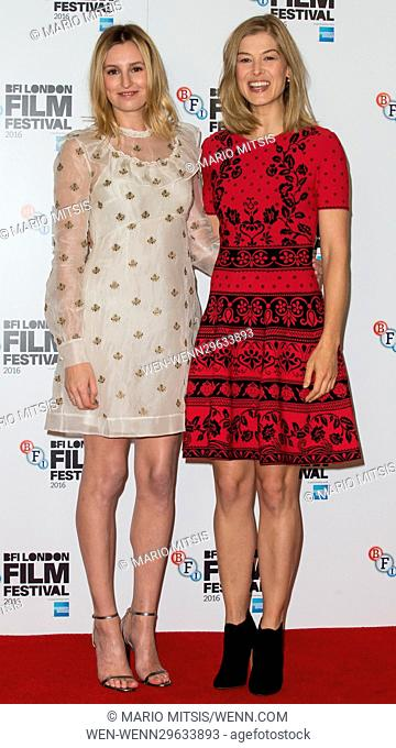 Photocall for 'A United Kingdom', the LFF Opening Night Gala held at the May Fair Hotel in London Featuring: Laura Carmichael, Rosamund Pike Where: London