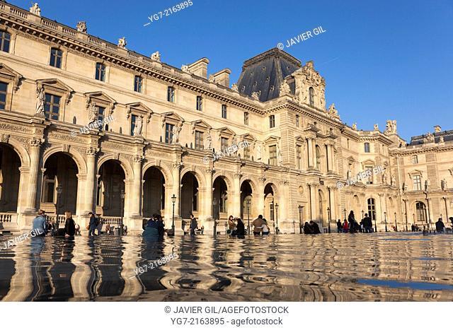 Louvre museum, Paris, Ile-de-france, France